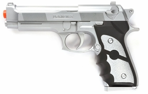 M9 Style Airsoft Spring Pistol - Silver