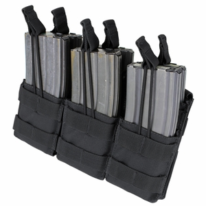MA44 Triple Stacker M4 Mag Pouch, Black