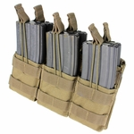 MA44 Triple Stacker M4 Mag Pouch, Tan
