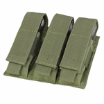 MA52 Triple Pistol Mag Pouch, OD Green