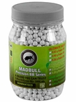 Mad Bull Precision Grade 6mm plastic airsoft BBs, 0.30g, 2000 rds, white