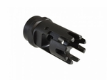 Madbull Airsoft Strike Industries Checkmate Full Metal Black Flash Hider, 14mm CCW