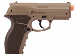Marines Airsoft CP01 CO2 Airsoft Pistol, Tan by Crosman