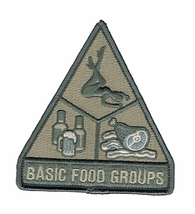 Mil-Spec Monkey Basic Food Groups Patch, ACU Light