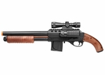 Mossberg 500 Sawed Off Spring Airsoft Shotgun w/ Sight and Flashlight