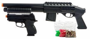 Mossberg Tactical Shotgun Kit with Spring .45 Pistol and 2500 BBs
