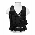 NC Star Children's Tactical Vest, Black