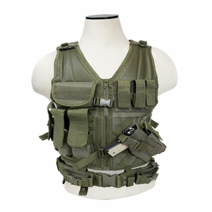 NC Star Children's Tactical Vest, OD Green