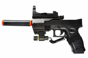 Police Style Spring Pistol With Laser