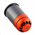 PPS/SHS Self Resetting 40mm Gas Powered Airsoft Grenade Shell, 72 Rounds