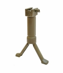 Rapid Deploy MK16 Bipod Airsoft Foregrip For 20mm Rails, Grip Pod, Tan