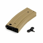 Raptors Airsoft RTV 330 Round Metal M4/M16 High Capacity Magazine w/ Winding Key, Tan