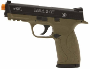 Smith & Wesson M&P 40 CO2 Pistol, Dark Earth Brown