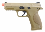 Smith & Wesson M&P 9 Full Size Gas Blowback Airsoft Pistol by VFC, Full/Semi Auto - Tan