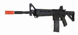 Smith & Wesson M&P15 PTS MOE Airsoft Rifle by King Arms, Black