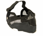 3G Steel Mesh Half Face Mask, Deluxe Version w/ Ear Protection, Black