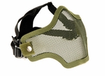 2G Steel Mesh Half Face Mask for Airsoft, OD Green