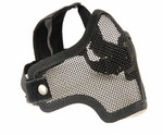 2G Steel Mesh Half Face Mask for Airsoft, Black