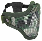2G Steel Mesh Half Face Mask for Airsoft, Jungle Camo