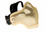 2G Steel Mesh Half Face Mask for Airsoft, Tan