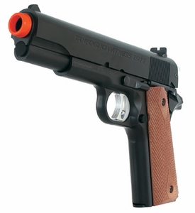 Tanfoglio Witness 1911 Airsoft Pistol and Sticky Target
