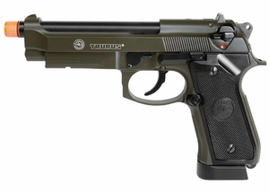 Taurus PT92 Full Metal CO2 Blowback Pistol, OD Green with Threaded Barrel, by KJ Works