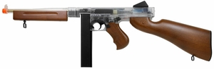Thompson M1A1 AEG, Clear/Wood, Stick Magazine by Cybergun