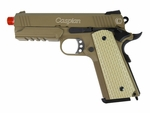 TSD 45-Tactical Caspian Combat Warrior Green Gas Airsoft Pistol