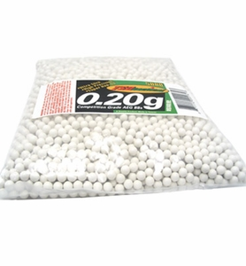 TSD Competition Grade 6mm plastic airsoft BBs, 0.20g, 5000 rds, white