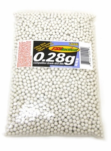 TSD Competition-Grade AEG 6mm plastic airsoft BBs, 0.28g, 5000 rds, white