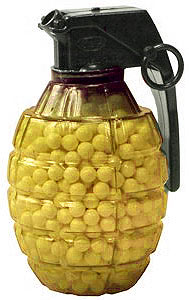 TSD Grenade-shaped feeder 6mm plastic airsoft BBs, 0.12g, 800 rds, yellow