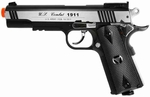 TSD Tactical-601 CO2 Blowback M1911, Metal Slide 450+, Black / Silver