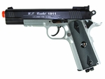 TSD Tactical-601 CO2 Blowback M1911, Metal Slide 450+, Silver / Black