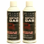 Two Canisters of King Arms Green Gas for Airsoft Guns - GROUND SHIPPING ONLY