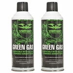 Two Canisters of Valken Green Gas for Airsoft Guns - GROUND SHIPPING ONLY