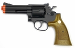 "UHC 4"" Airsoft Revolver, Brown"