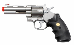 "UHC Airsoft Revolver 4"" Barrel - Silver"