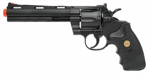 "UHC Airsoft Revolver 6"" Barrel - Black"