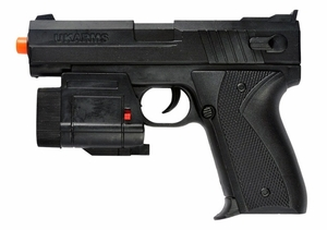 UK Arms 666AF Spring Airsoft Pistol w/ Laser and LED Flashlight