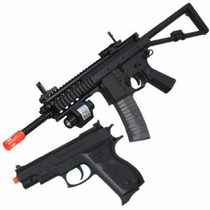 UK ARMS P1188 RDW Spring Airsoft Rifle and Pistol Combo Pack