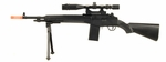 UK Arms Spring Powered M14 Sniper Rifle with Bonus Spring Pistol