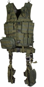 UTG 10 Piece Complete Kit Rig, OD Green