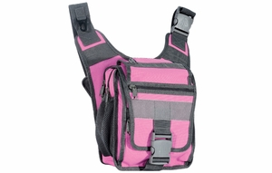 UTG 24/7 Ambidextrous Scout Messenger Bag, Live Pink