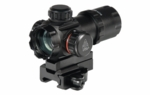 "UTG 3.9"" ITA Red/Green Dot Sight with Riser Adaptor, QD Mount & Flip-open Lens Caps"