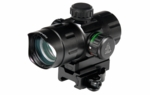 "UTG 4.0"" ITA Red/Green Dot Sight with Riser Adaptor, QD Mount & Flip-open Lens Caps"