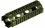 UTG PRO M4 Carbine Length Quad Rail System, RIS, OD Green