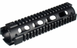 UTG PRO Model 4/15 Mid Length Quad Rail System, RIS, Black