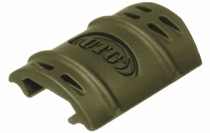 UTG Rubber Rail Covers, Green (12 pack)
