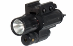 UTG Xenon Pistol Flashlight and Laser Combo, Rail Mounted