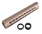 "UXR4 10"" CNC Aluminum Free Float Rail - Tan"
